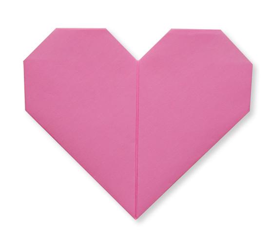 おりがみくらぶ(新宮文明)さんによるはーと(とらんぷ)の折り紙