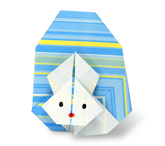 おりがみくらぶ(新宮文明)さんによるうさぎとたまごの折り紙