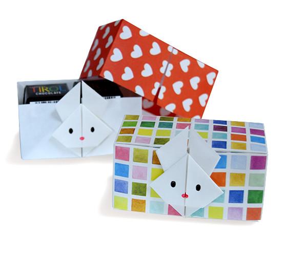 おりがみくらぶ(新宮文明)さんによるうさぎのはこの折り紙
