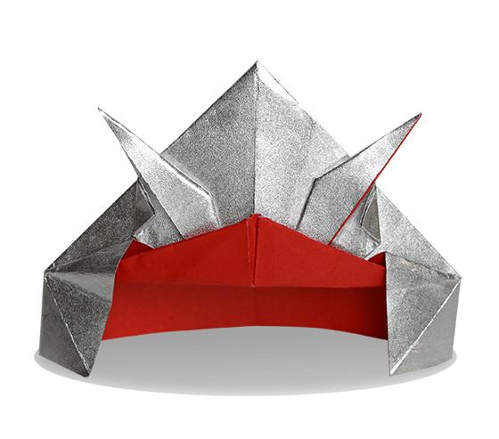 おりがみくらぶ(新宮文明)さんによるかぶと3の折り紙