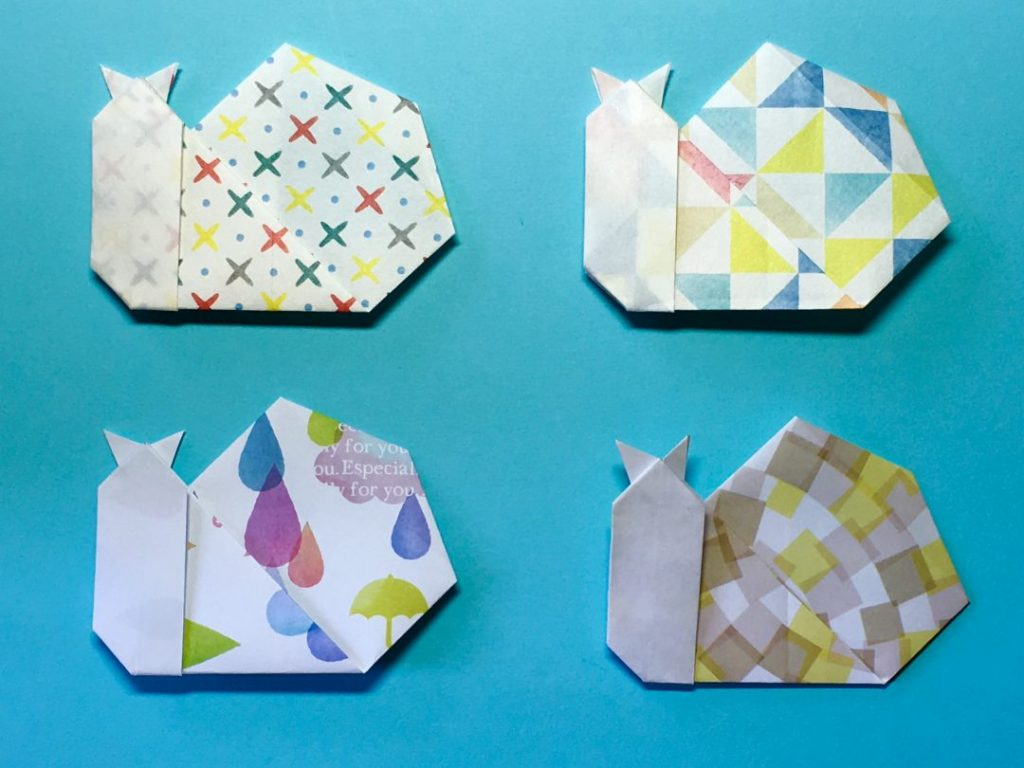 Oriya小町さんによるかたつむりの折り紙