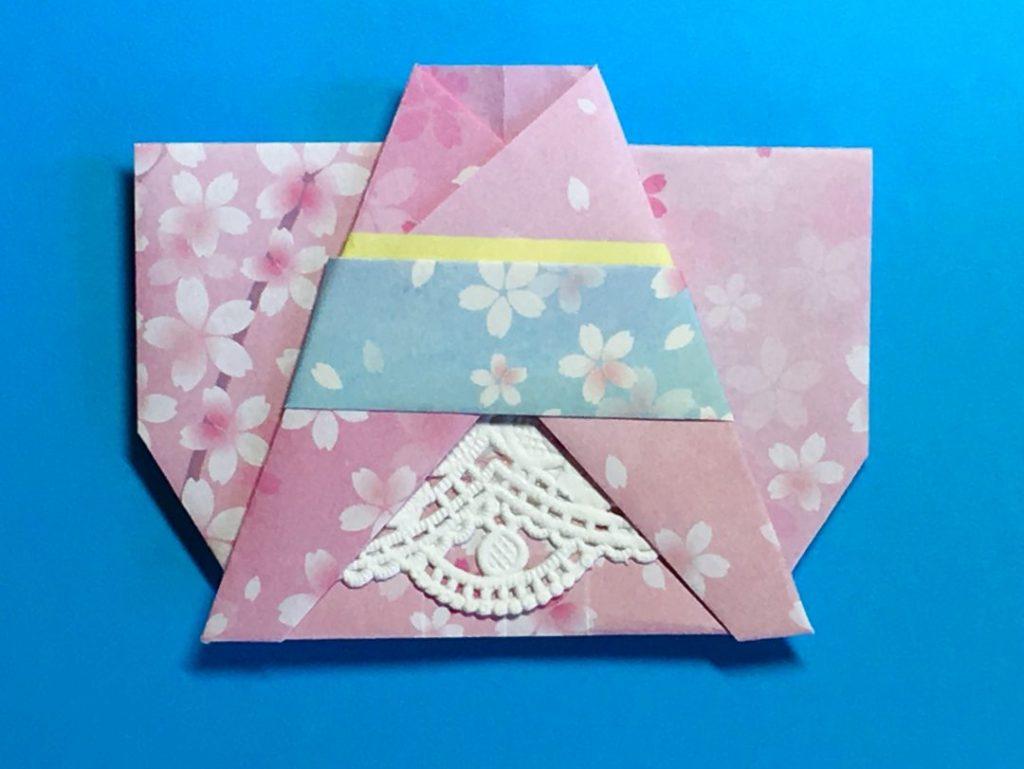 Oriya小町さんによる浴衣ドレスの折り紙