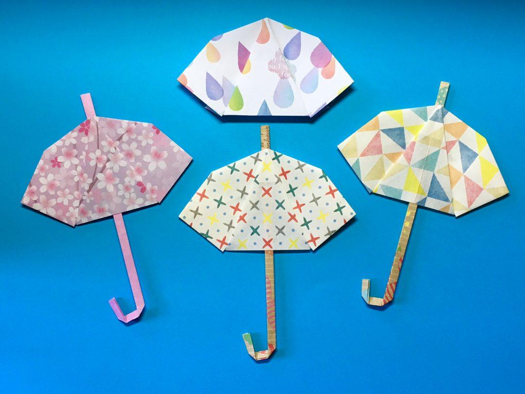 Oriya小町さんによる小町の雨傘の折り紙