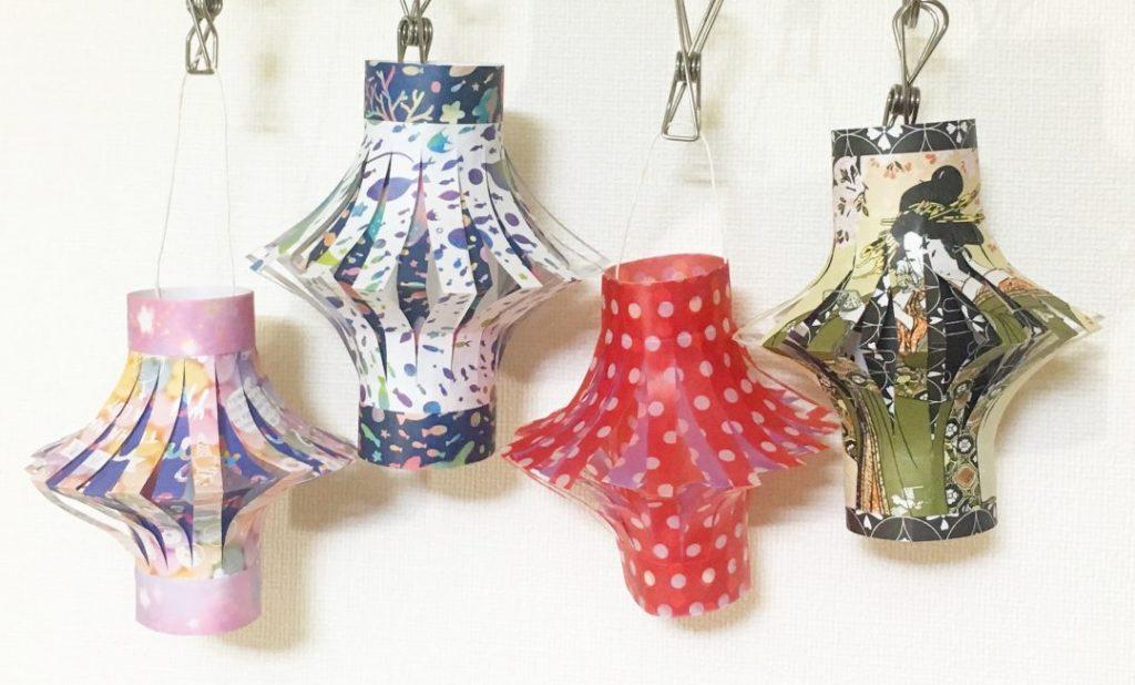 Oriya小町さんによる提灯《ロータイプ》《トールタイプ》の折り紙
