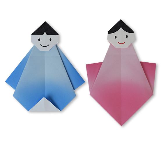 おりがみくらぶ(新宮文明)さんによるおりひめとけんぎゅう3の折り紙