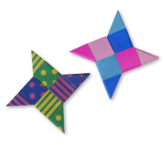 おりがみくらぶ(新宮文明)さんによるからふるしゅりけんの折り紙