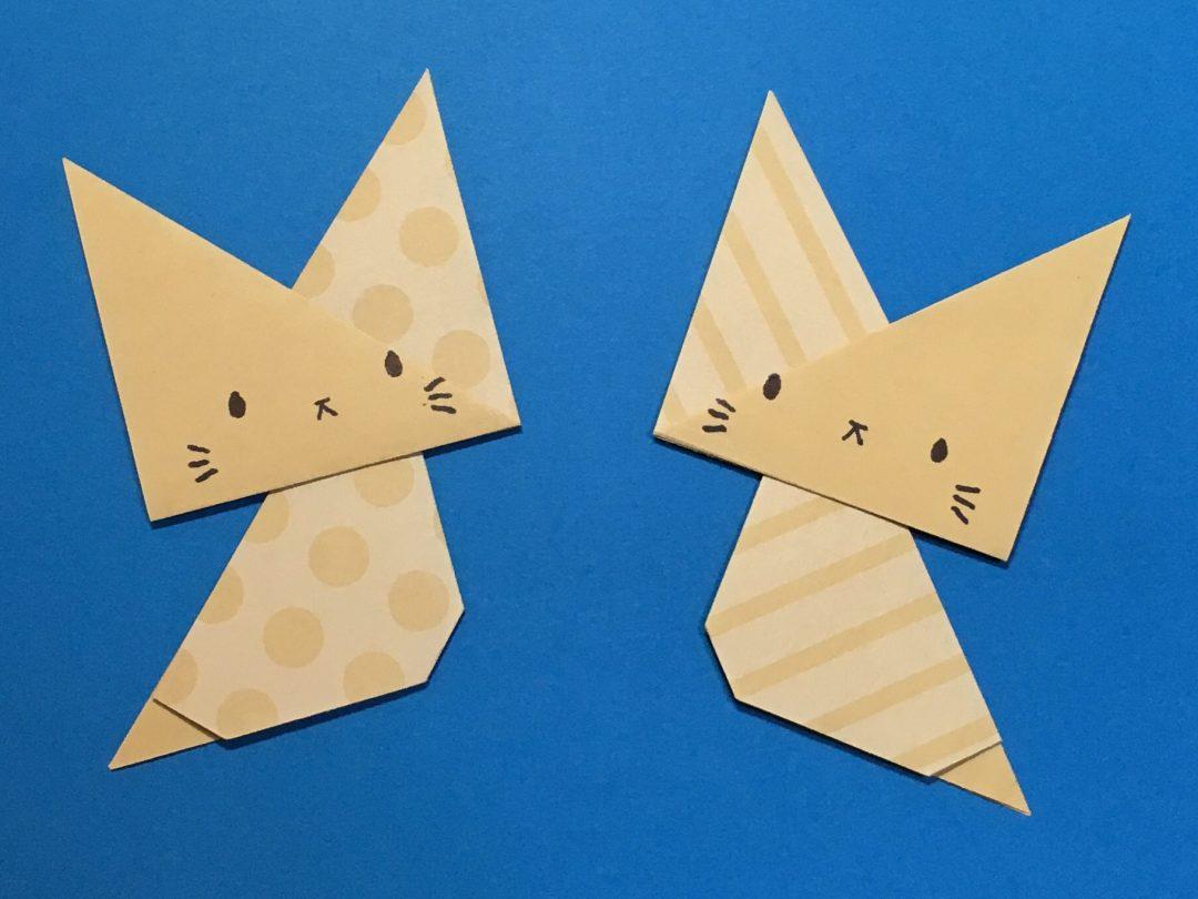 Oriya小町さんによるちまねこちゃんの折り紙