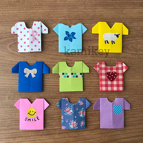 カミキィさんによるTシャツの折り紙