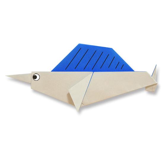 おりがみくらぶ(新宮文明)さんによるかじきまぐろの折り紙