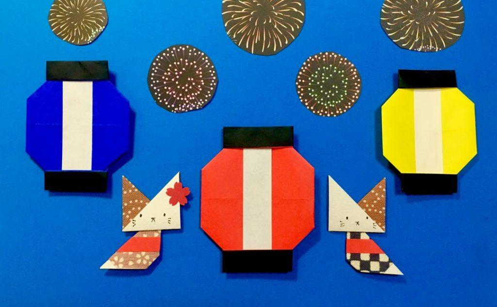 Oriya小町さんによるお祭りちょうちんの折り紙