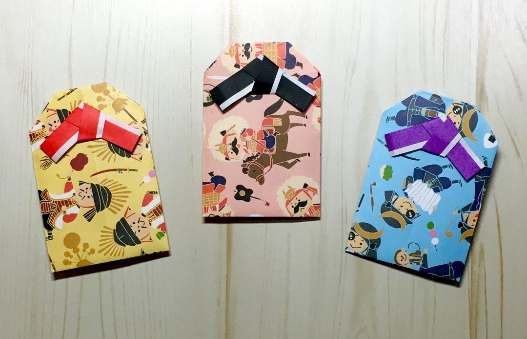 Oriya小町さんによる折り紙のお守り袋の折り紙
