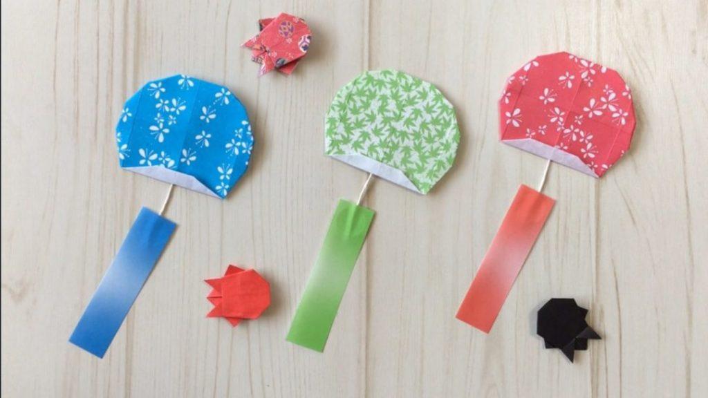 Oriya小町さんによる風鈴の折り紙
