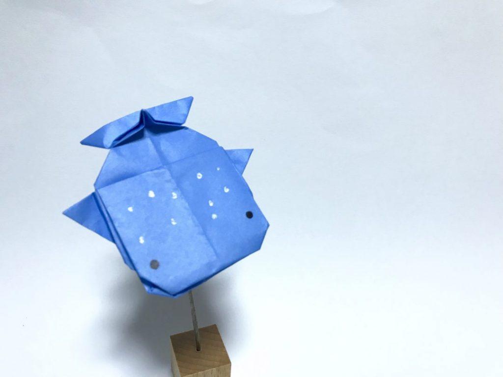 だ〜ちゃんさんによるぽってりジンベイザメの折り紙