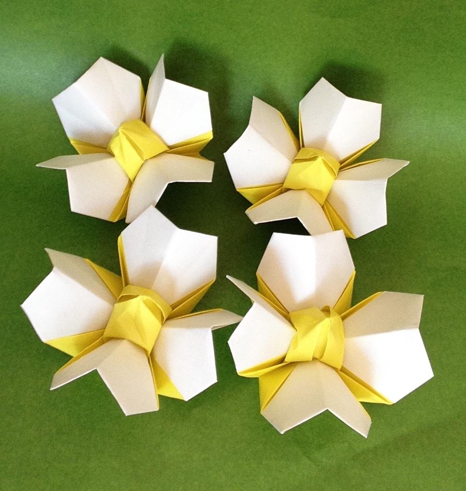 Teru Kutsunaさんによるはな 立体 Origami Flower Bloomingの折り紙