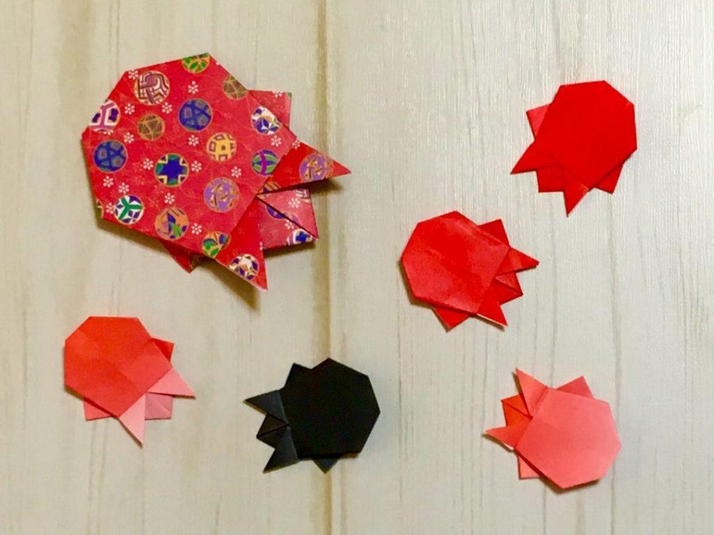 Oriya小町さんによる豆金魚の折り紙