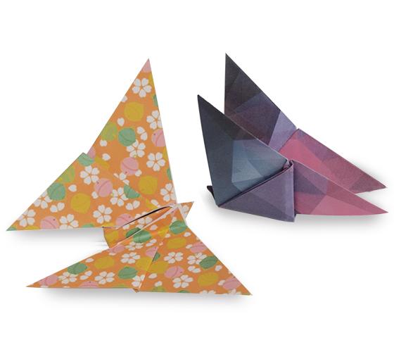 おりがみくらぶ(新宮文明)さんによるちょうちょ3の折り紙