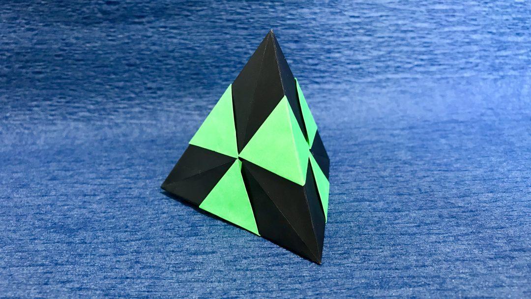 さくBさんによる【くす玉折り紙】正四面体【ユニット折り紙】の折り紙