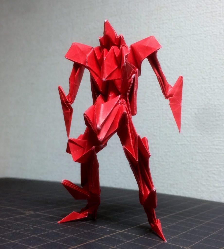 denさんによる折り紙ロボットの折り紙
