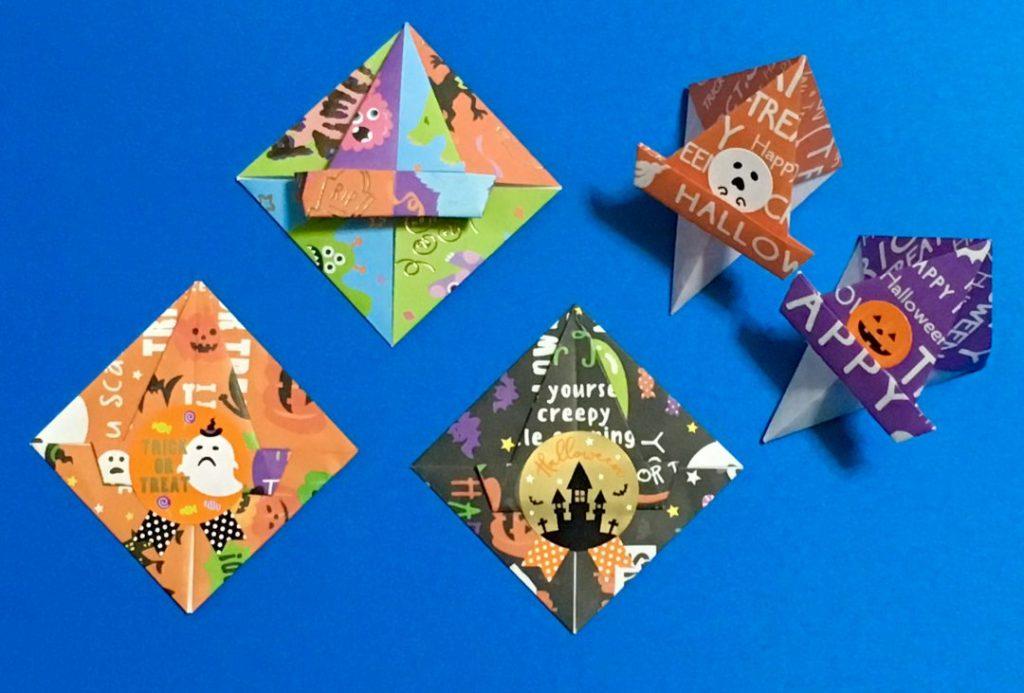 Oriya小町さんによるハロウィンメッセージメモの折り紙
