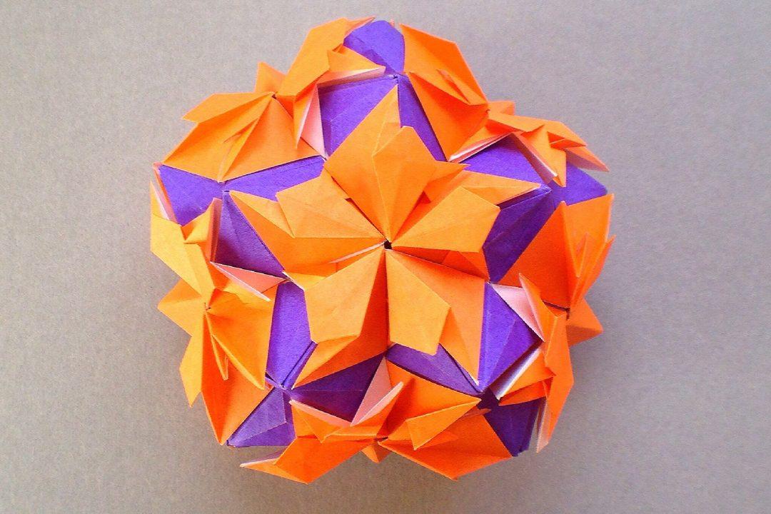 かみなが らんさんによるくす玉 ハロウィンの折り紙