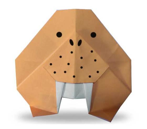 おりがみくらぶ(新宮文明)さんによるせいうちの折り紙