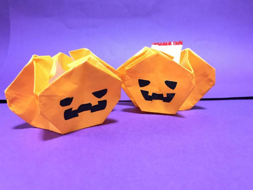 だ〜ちゃんさんによるおばけかぼちゃのバスケット.+*:゚+。.☆の折り紙