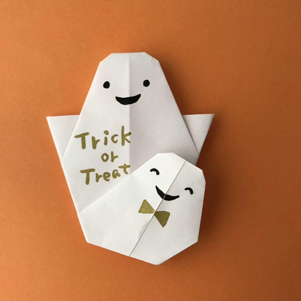カミキィさんによるダブルおばけの折り紙