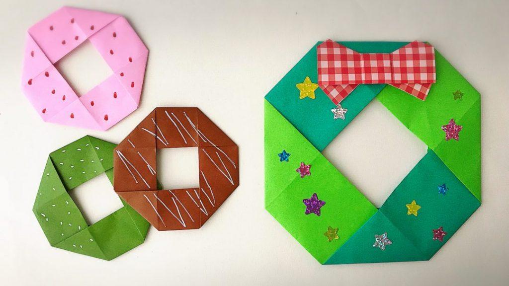 カミキィさんによるドーナツリースの折り紙