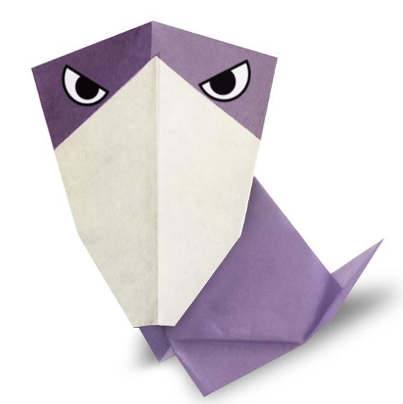 おりがみくらぶ(新宮文明)さんによるはしびろこうの折り紙
