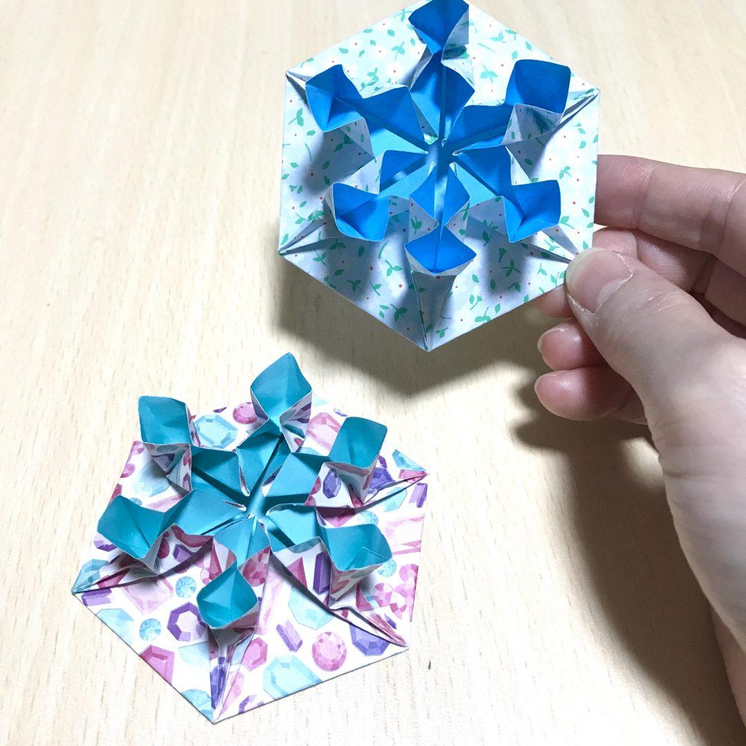 だ〜ちゃんさんによるオーナメント 雪の結晶の折り紙
