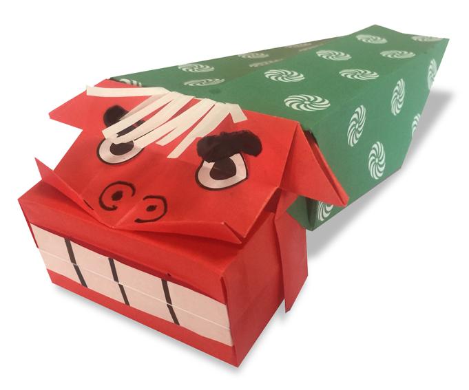 おりがみくらぶ(新宮文明)さんによるししまい2の折り紙