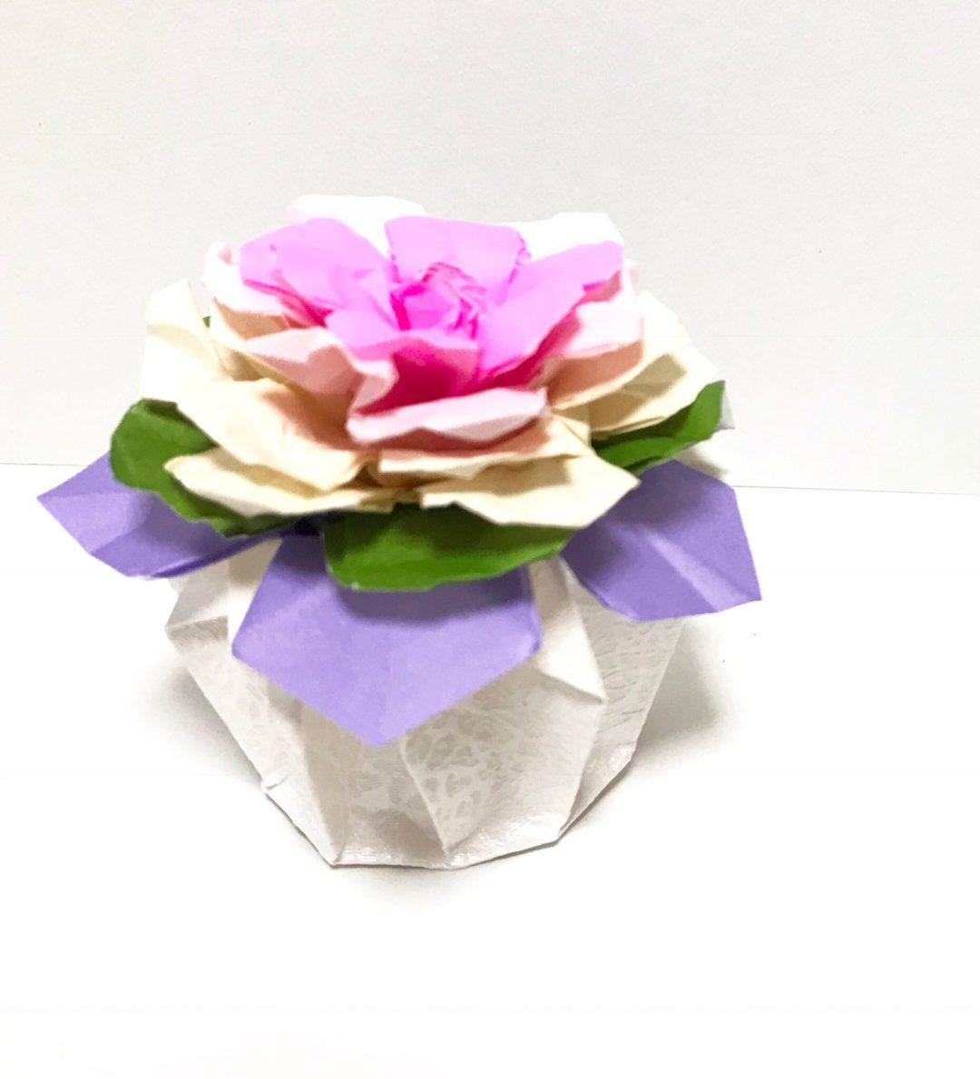 だ〜ちゃんさんによる葉牡丹の折り紙