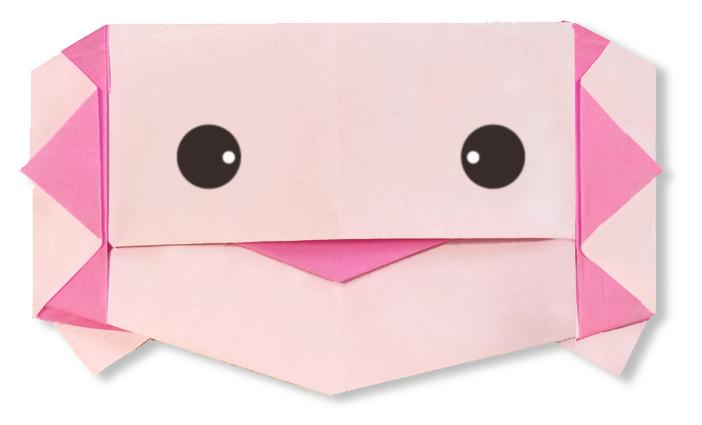 おりがみくらぶ(新宮文明)さんによるうーぱーるーぱーの折り紙