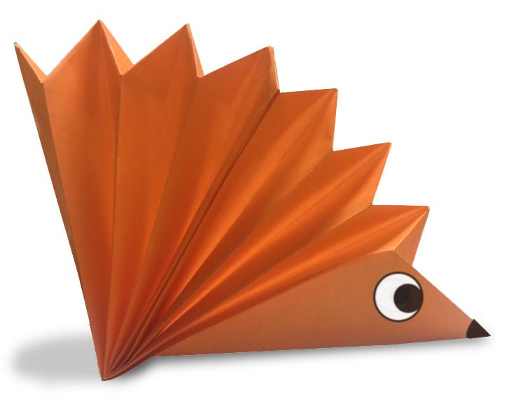 おりがみくらぶ(新宮文明)さんによるやまあらしの折り紙