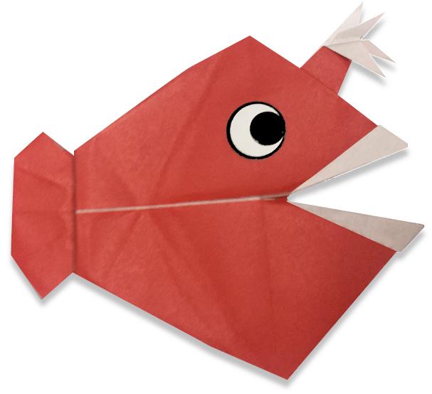 おりがみくらぶ(新宮文明)さんによるちょうちんあんこうの折り紙