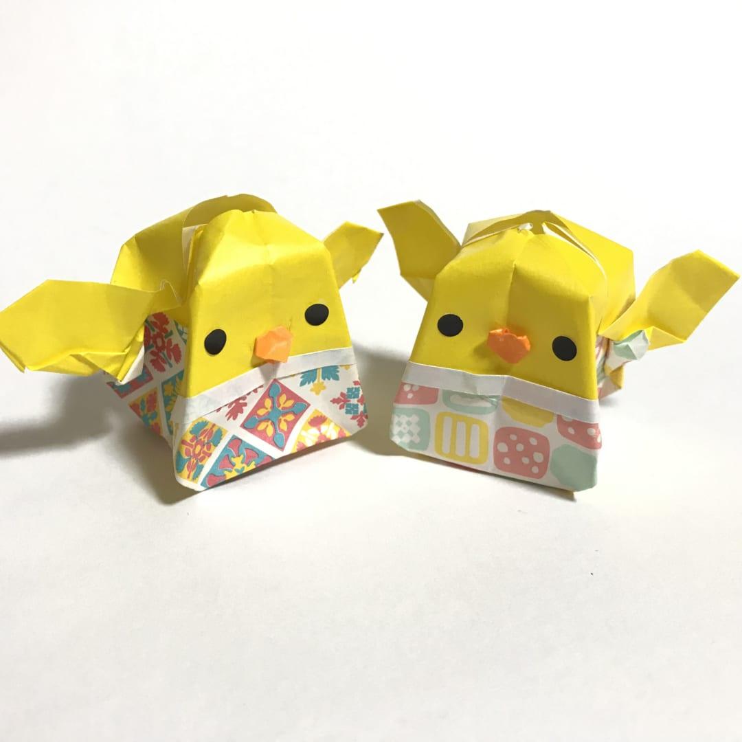 だ〜ちゃんさんによる3D ぽってりイースターエッグ ヒヨコたんの折り紙