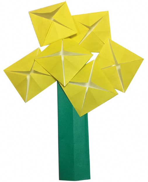 おりがみくらぶ(新宮文明)さんによるなのはなの折り紙
