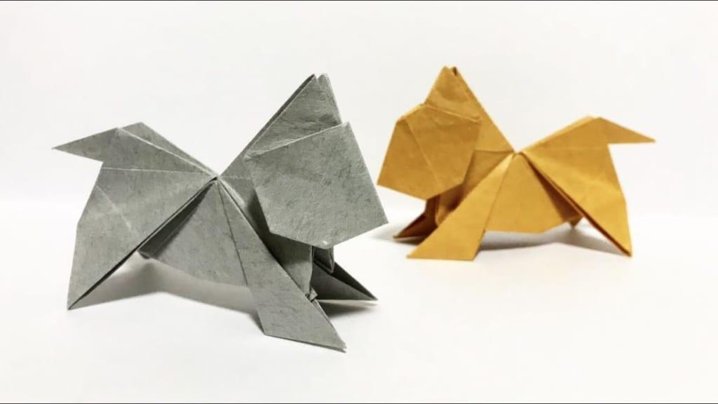 さくBさんによるねこの折り紙