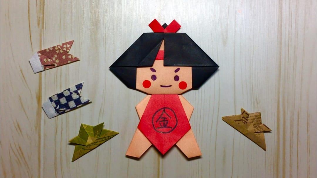 Oriya小町さんによる金太郎の折り紙