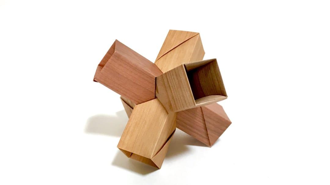 さくBさんによる直方体ぶっ刺しの折り紙