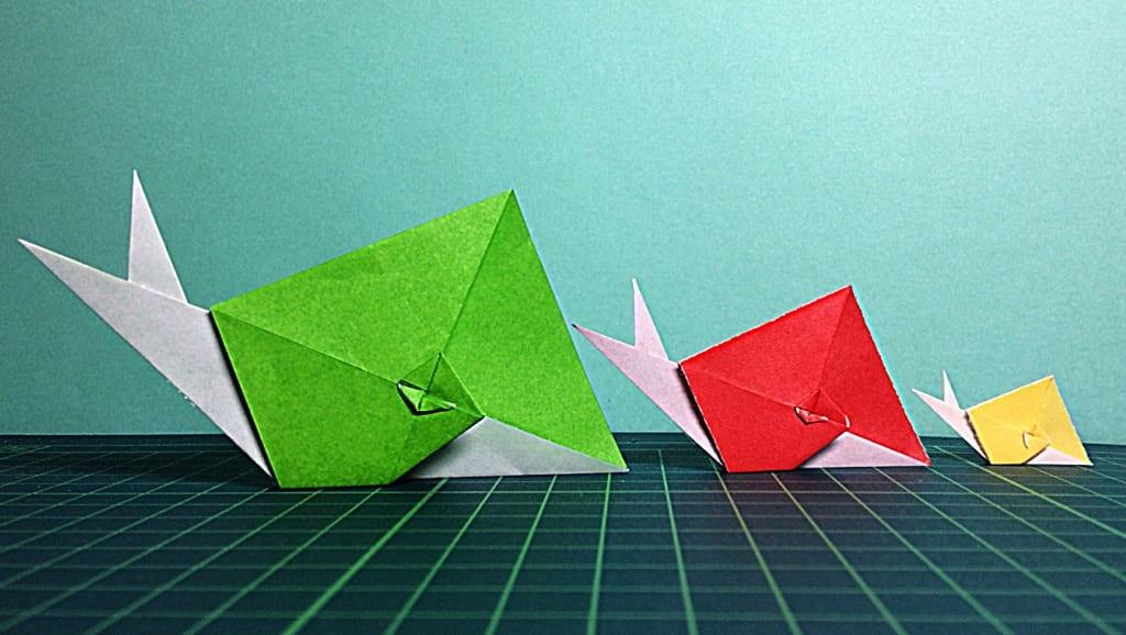 denさんによるかんたんカタツムリの折り紙