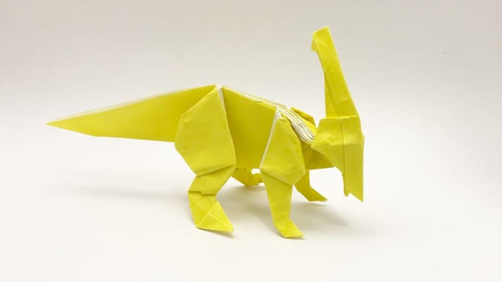 さくBさんによるパラサウロロフスの折り紙