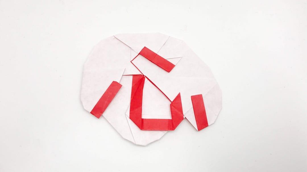さくBさんによる心の折り紙