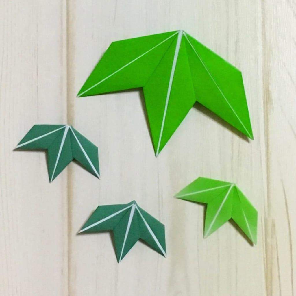 Oriya小町さんによる笹の葉の折り紙