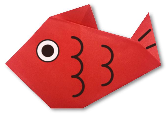 おりがみくらぶ(新宮文明)さんによるたいの折り紙