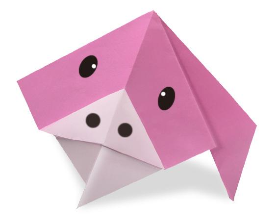おりがみくらぶ(新宮文明)さんによるぶた2の折り紙