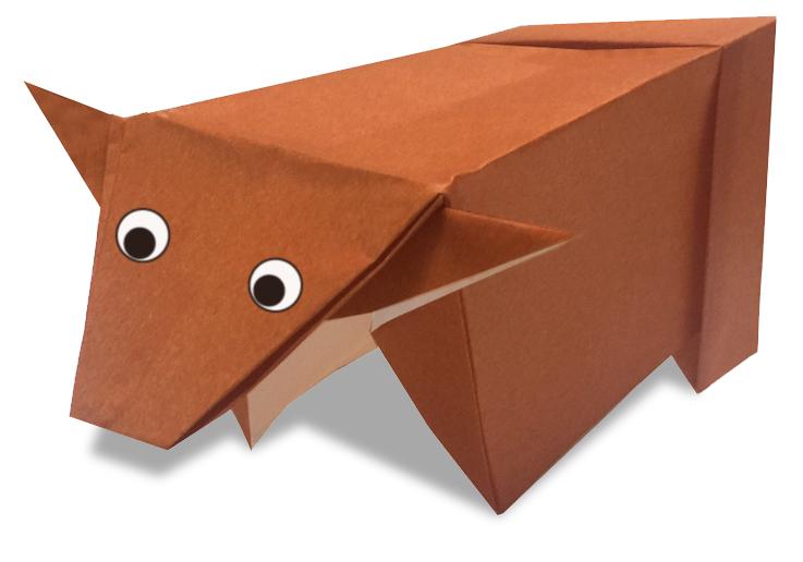 おりがみくらぶ(新宮文明)さんによるすいぎゅうの折り紙