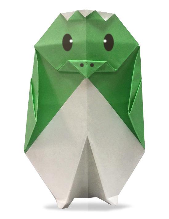 おりがみくらぶ(新宮文明)さんによるかっぱの折り紙