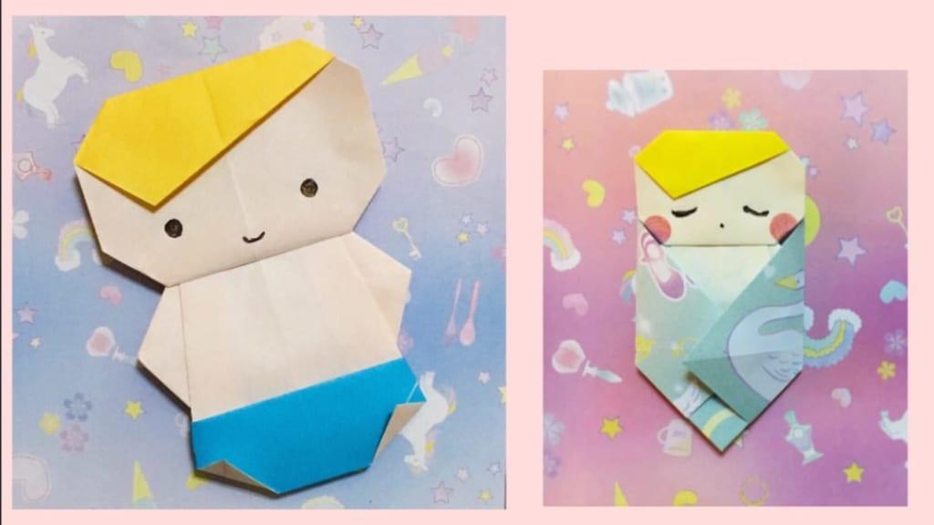 Oriya小町さんによるおくるみ赤ちゃんの折り紙