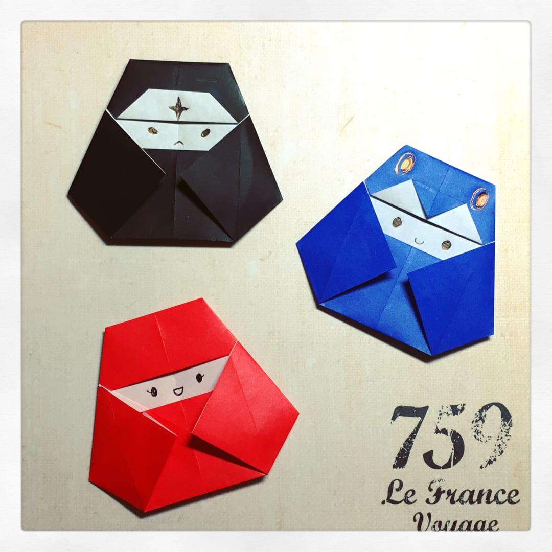 Oriya小町さんによる頭巾ちゃんシリーズの折り紙